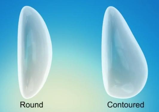 round and anatomic implant